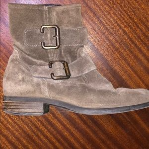 Paul Green Suede Combat Boots